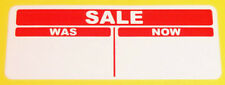1000 Bright Red 20 x 50mm SALE was / now Price Point Stickers, Sticky Labels