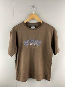 New Balance Mens Brown Short Sleeve Crew Neck Boston T Shirt Size Medium