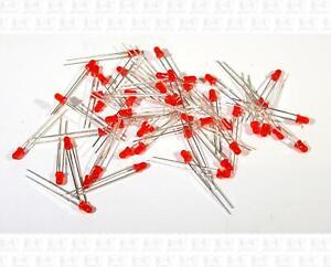 Lot Of 50 TXE 3mm T-1 Red LEDs