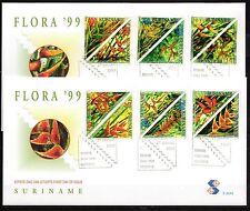 Suriname - 1999 Plants Heliconia - Mi. 1677-86 clean unaddressed FDC's