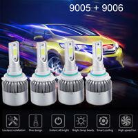4 Bulbs Kit 9005 9006 6000K Combo CREE LED Headlight High Low Beam Bulbs 2820W