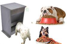 Mangiatoia a tramoggia per cane cani in acciaioi inox con coperchio ribaltabile