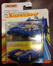 """Matchbox """"50Th Anniversary"""" Sf Blue Shark W/Box Vhtf Rare Collectible Diecast"""