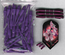 """Purple Passion"" Soft Tip Dart Upgrade Kit: Purple Tips, Purple Shafts & More"