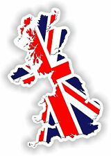 Map Flag of UK Sticker United Kingdom GB Car Truck Laptop Guitar Scooter Book