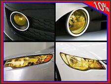 Scheinwerfer Folie Tönungsfolie Gold-Gelb 100x30cm Nebelscheinwerfer Rückleuchte
