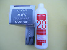 TWO 506W MATRIX SOCOLOR HAIRCOLOR PLUS ONE 16oz DEVELOPER NEW!