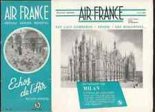 AIR FRANCE Echos de l'air # 39 1950 Milan Italie