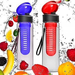 2er Set Trinkflasche Früchteeinsatz Flasche Sportflasche Fitnessflasche 0,7 L