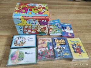 Job lot children's cassette tapes. Nursery rhymes stories Bob the Builder