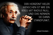 Albert Einstein Spruch 26 Blechschild Schild gewölbt Metal Tin Sign 20 x 30 cm
