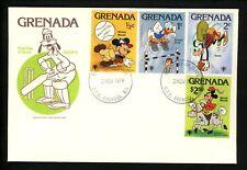Disney FDC Grenada #950-958 SET OF 2 Mickey baseball cricket basketball 1979