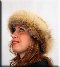 New Golden Island Fox Fur Headband 24 Inches Long 4 Inches Wide Efurs4less