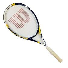 "Wilson US Open Tennis Racket 27"" Navy Blue White Yellow Guc"
