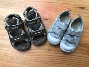 Boys Shoe / Sandal Bundle (child Size 5.5G & 6) inc Clarks And Timberland
