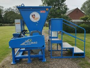 Pallet shredder chipper recycle waste wood biomass recycling G30 G50 wood chip