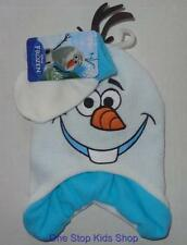 OLAF The Snowman Boys Hat & Gloves WINTER SET Cap Beanie Mittens FROZEN Disney