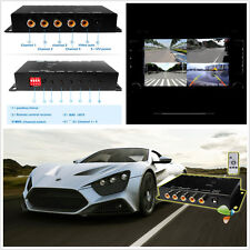 360° Front/Rear/Left/Right Autos 4-Channel Parking Camera Image Split-Screen Box
