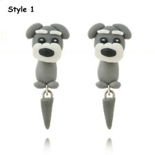 Handmade Polymer Clay Cute Dogs Puppy Earrings Women Animal Ear Stud Jewelry Style 1