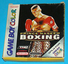Prince Naseem Boxing - The Shapes of Victory - Game Boy Color GB Nintendo - PAL