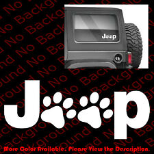 JEEP WRANGLER Cat Dog Paw Print Feet Vinyl Car/Bumper Window Decal Sticker JW001