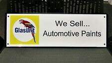 Glasurit automotive paint sign ... Ferrari Original Equipment brand