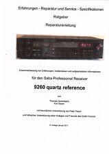 Saba  Ratgeber Reparaturanleitung Erfahrungen Service für 9260 Quartz Reference