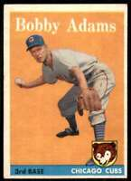 1958 Topps Set Break2 EX Mt Bobby Adams Chicago Cubs #99