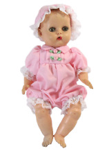"""Pink Pintucked Romper and Bonnet for 8"""" Ginnette Doll"""