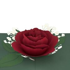 Lovepop Pop-Up 3D Red Rose Bloom Greeting Card