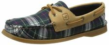 Women's Shoes Sperry Top-Sider A/O 2-EYE Boat shoes Moccasin Plaid NAVY Sahara
