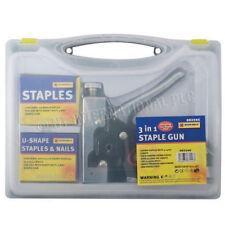STAPLE GUN HEAVY DUTY HAND UPHOLSTERY 600PC STAPLES STAPLER CABLE DIY3 IN 1