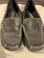 Sketchers Size 13 Youth Boys Brown Slip On Dress Shoes Leather Upper