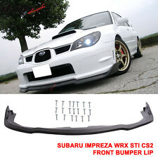 Fit For 06-07 Subaru Impreza WRX Sti CS2 Front Bumper Lip Splitter - PP