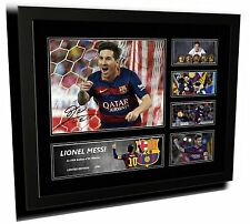 LIONEL MESSI BARCELONA SIGNED LIMITED EDITION FRAMED MEMORABILIA