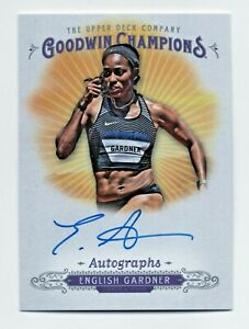 2018 Goodwin Champions Autograph English Gardner USA Olympic Sprinter Oregon