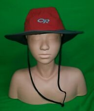 NICE Outdoor Research OR Goretex Hat Red Rain Hiking Adult Small S Boonie Garden