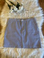 RALPH LAUREN SPORT Women's Skirt Sz. 4 Seersucker Blue White Striped