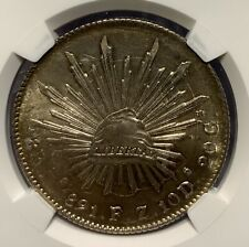 1891 ZS MEXICO 8 REALS SILVER COIN NGC MS64