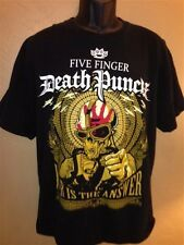 Five Finger Death Punch 2009 Concert Shirt 5FDP War Shock and Raw Tour RARE