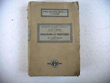 chimie industrielle COULEURS ET PEINTURES Ch Coffignier 1924