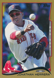 Jonathan Herrera 2014 Topps Update Gold #US-187 Red Sox card /2014