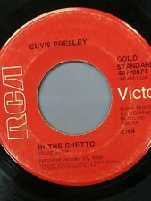 """ELVIS PRESLEY 45 RPM """"In the Ghetto"""" & """"Any Day Now"""" Good (G) condition"""
