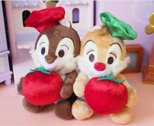 New Disney Christmas Chip and Dale with APPLE Plush Toy 2PCS Gift