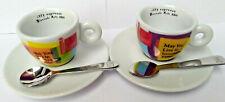 New 2 Cups Tazze Tazzine illy Caffé espresso Biennale Arte 2019 coffee set