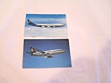 lot of 2 Olympic Airlines postcards vintage