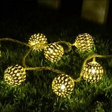 Ball Shape Warm White 20-LED String Lamp Lights For Christmas Diwali Decoration
