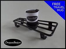 Vespa PX T5 LML floor board rack CUP HOLDER-gloss black CLASSIC RACKS
