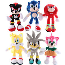 Soft Toy Anime Sonic The Hedgehog Plush Knuckles Silver Tails Stuffed Teddy Bear