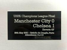2021 Champions League Final 130x70mm Engraved Plaque for Memorabilia / Programme